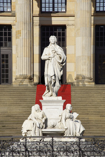 Schiller-Denkmal auf dem Gendarmenmarkt in Berlin