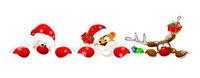 Santa Claus, tiger and deer