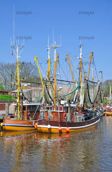 Shrimp Boats in Greetsiel at the German North Sea