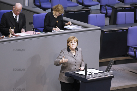Merkel at Bundestag - European Council