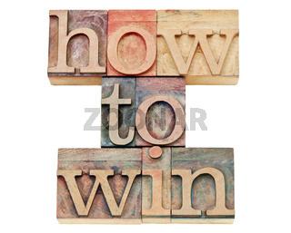 how to win in letterpress wood type
