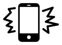 Flat Raster Smarthone Noise Icon