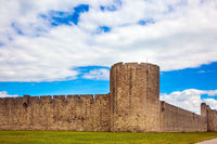 The fully preserved city wall