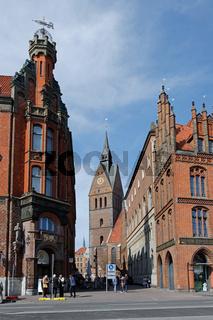 Marktkirche und Ratsapotheke in Hannover