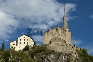 Burgkirche St. Romanus, Raron, Wallis, Schweiz