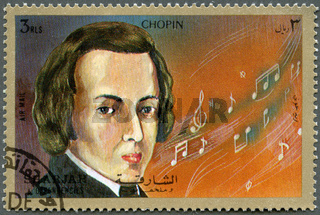 SHARJAH  DEPENDENCIES - 1972 : shows Frederic Chopin (1810-1849)