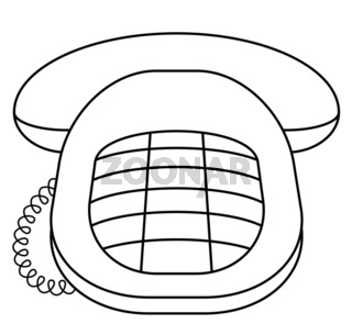 Phone desktop push-button, contour