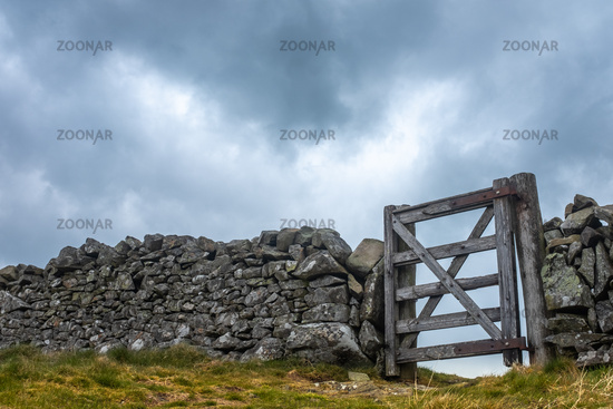 Dry Stone Wall And Gate