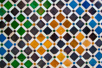 Ceramics with colorful geometric pattern
