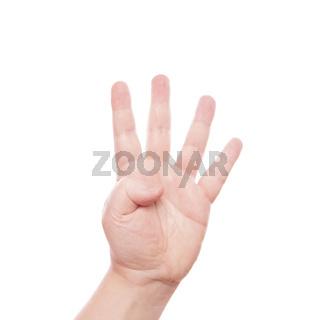 Handzeichen 4