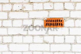 White silicate brickwork wall