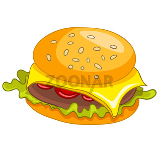 Cartoon Food Hamburger