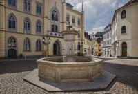 Market fountain in Greiz's old town