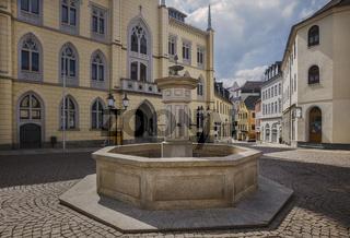 Marktbrunnen in der Greizer Altstadt