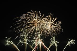 Feuerwerk, Hoehenfeuerwerk, Brandenburg, Deutschland, Europa