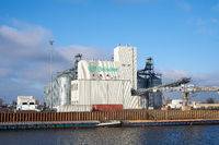 The company Beiselen, trader for seeds and fertilizers in the port in Magdeburg in Germany