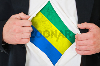 The Gabonese flag