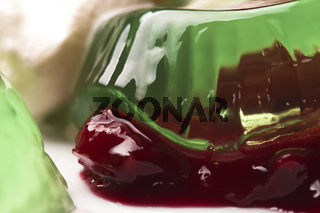 Jelly with jam and sour cream