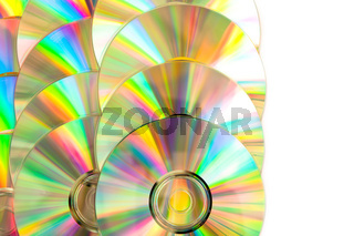 Compact disc arranged
