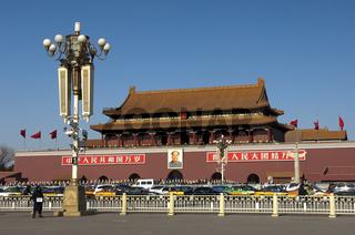 Tor des himmlischen Friedens am Eingang zur Verbotenen Stadt