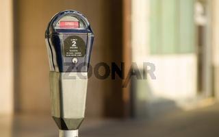 Parking Meter Downtown in Expired Status