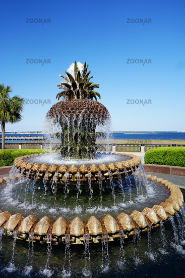 The Pineapple Fountain in scenic Waterfront Park, Charleston SC