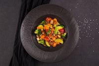 Vegan vegetable curry.