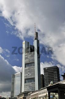Turm der Commerzbank, Frankfurt am Main, Hessen, Deutschland, Europa
