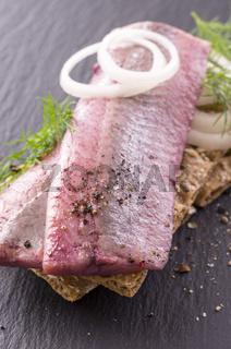 fish fillet marinated