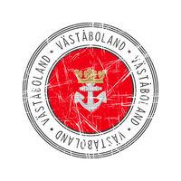 Vastaboland city postal rubber stamp