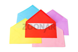 Multicolored letters