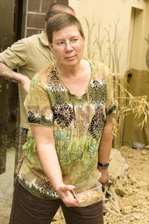 Feierliche Eroeffnung der ErdmŠnnchen-Anlage im Zoo Dortmund