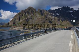 Bridge on Lofoten in Norway