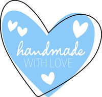 heart shaped HANDMADE WITH LOVE sticker