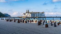 The Main Beach and the Sellin Pier, Mecklenburg-Western Pomerania, Germany