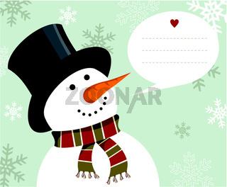 Snowman Christmas card.