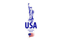Vector icon of the Statue of Liberty of the United States