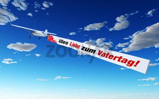 Flugzeug mit Banner - Alles Liebe zum Vatertag!