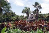 Garden and fountain
