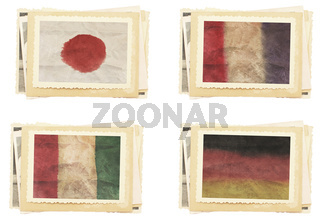 Vintage photos collection vintage flag