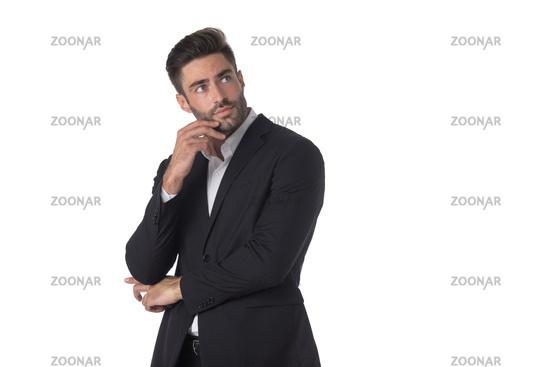 Portrait of business man thinking