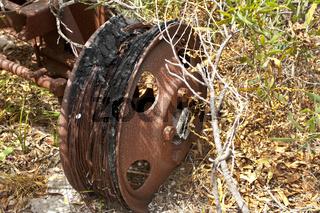 Autofriedhof im Outback Australien
