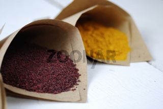 Paper envelopes with spices