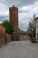 Watchtower. Remains of the fortress wall. Juterbog is a historic town in north-eastern Germany.