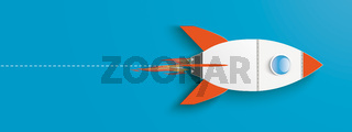 Big Rocket Startup Blue Header
