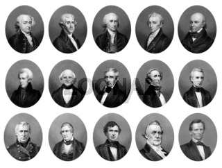 portraits of the Presidents of the United States of America from