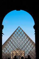 The Louvre Pyramid from the Eastern entrance