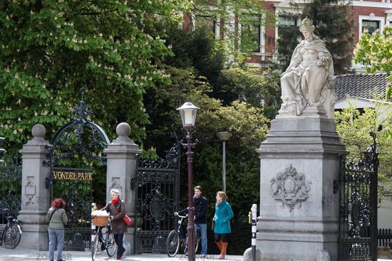 Entrance gate to the Vondelpark in Amsterdam