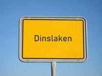 place name sign Dinslaken