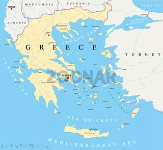 Griechenland politische Karte